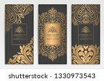gold and black packaging design ... | Shutterstock .eps vector #1330973543