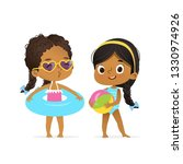 happy afro american children in ... | Shutterstock .eps vector #1330974926