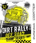 dirt rally. extreme off road... | Shutterstock .eps vector #1330977839