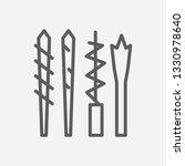 drills icon line symbol....