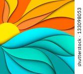 sunset. sunrise. abstract sea... | Shutterstock .eps vector #133098053