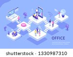 coworcers in office concept... | Shutterstock . vector #1330987310