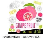 fresh grapefruit citrus... | Shutterstock .eps vector #1330993166