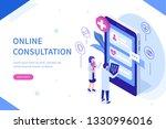 online consultation concept... | Shutterstock . vector #1330996016