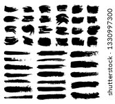 set of ink paint blob and brush ...   Shutterstock .eps vector #1330997300