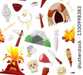 stone age vector primeval... | Shutterstock .eps vector #1330998383