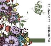 abstract vector flower... | Shutterstock .eps vector #1330998476