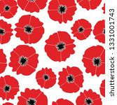 wild poppies seamless pattern ... | Shutterstock .eps vector #1331001743