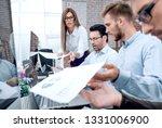 businessman throws financial... | Shutterstock . vector #1331006900