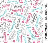 pattern with lettering of... | Shutterstock .eps vector #1331008703