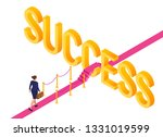 road to success. business... | Shutterstock .eps vector #1331019599