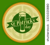 saint patricks day logo round... | Shutterstock .eps vector #1331020880