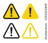 warning attention sign. danger... | Shutterstock .eps vector #1331021849
