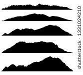 set of black mountains... | Shutterstock .eps vector #1331024210