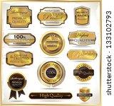 luxury golden labels | Shutterstock .eps vector #133102793
