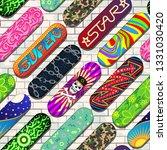 skateboard vector skateboarders ... | Shutterstock .eps vector #1331030420