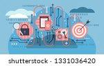 algorithm vector illustration.... | Shutterstock .eps vector #1331036420