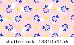 cute pink flowers with art... | Shutterstock . vector #1331054156