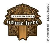 craft beer vintage label | Shutterstock .eps vector #1331056010