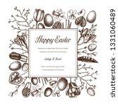 happy easter day design.... | Shutterstock .eps vector #1331060489