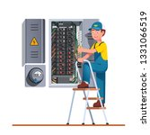 electrician engineer man... | Shutterstock .eps vector #1331066519