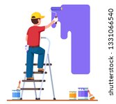 painter man painting house wall ... | Shutterstock .eps vector #1331066540