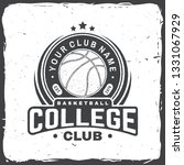 basketball college club badge.... | Shutterstock .eps vector #1331067929