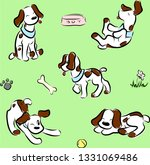 pattern puppies color | Shutterstock .eps vector #1331069486