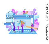 training young people to gain... | Shutterstock .eps vector #1331071319