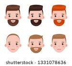 character faces vector ... | Shutterstock .eps vector #1331078636