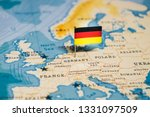 The Flag Of Germany In The...