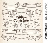 collection of retro ribbons... | Shutterstock .eps vector #1331110940