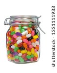 Jar Of Colorful Jelly Beans...