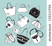 purse set vector | Shutterstock .eps vector #133111934