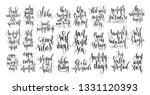 set of 25 hand lettering... | Shutterstock . vector #1331120393