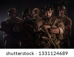 Special forces United States soldiers during the military operation. war, army and people concept