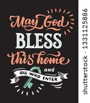 poster lettering may god bless... | Shutterstock .eps vector #1331125886