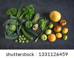 green vegetables and exotic... | Shutterstock . vector #1331126459