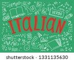 italian. il  lo  la  ciao ...   Shutterstock .eps vector #1331135630