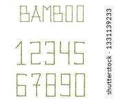 vector bamboo numerals digits...   Shutterstock .eps vector #1331139233