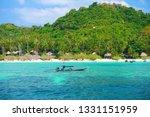 beautiful paradise tropical...   Shutterstock . vector #1331151959