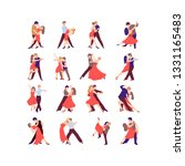 collection of pairs of dancers. ... | Shutterstock .eps vector #1331165483