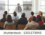 front view of caucasian... | Shutterstock . vector #1331173043