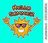 hello summer. sun smile design. ... | Shutterstock .eps vector #1331183816
