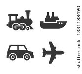transport icons set. airplane ... | Shutterstock .eps vector #1331188490