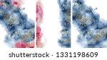 watercolor abstract aquamarine  ... | Shutterstock .eps vector #1331198609