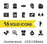 medical icons set with medical... | Shutterstock .eps vector #1331198666