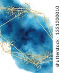 watercolor abstract aquamarine  ... | Shutterstock .eps vector #1331200010