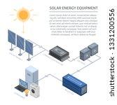 solar energy equipment...   Shutterstock . vector #1331200556
