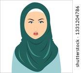 vector of green hijab woman... | Shutterstock .eps vector #1331204786